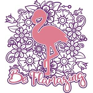 be flamazing flamingo mandala