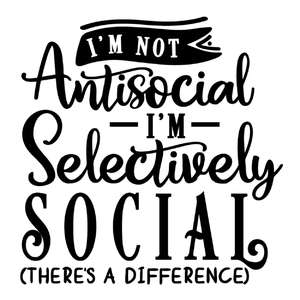 not antisocial selectively social