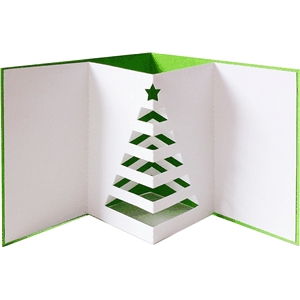 pop out tree card