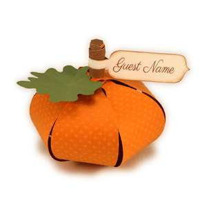 pumpkin 3d contour loops place card