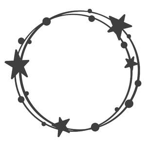 star wreath frame