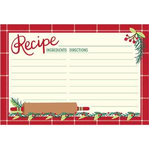 holiday cookbook recipe card rolling pin