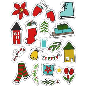 ml christmas winter stickers