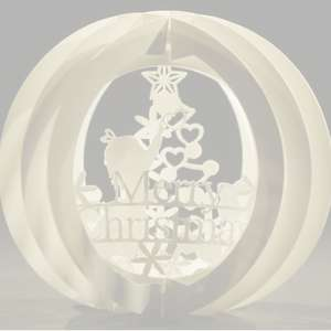 three layered pop up sphere merry christmas type a