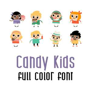 candy kids full color font