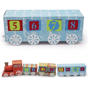 3d advent calendar train passenger car