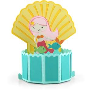 decagon pop up card mermaid