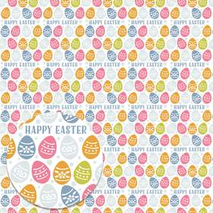 easter eggs printable background