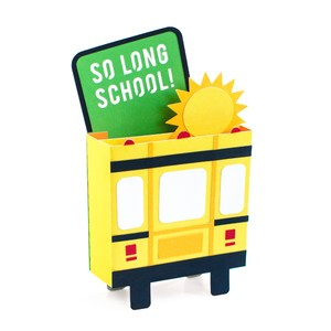 out of school bus box card