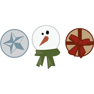 star snowman and bow tags