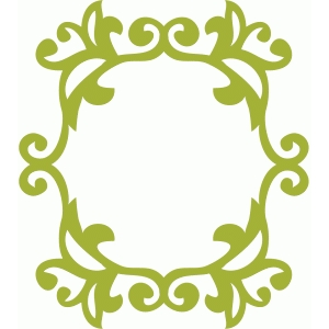 fancy flourish frame