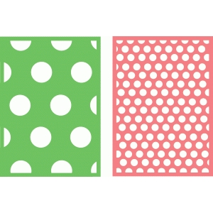 5x7 background circles