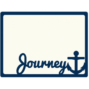 journey anchor journaling card