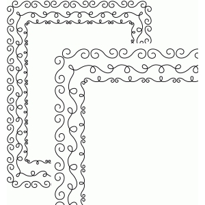 3 doodle borders rectangle