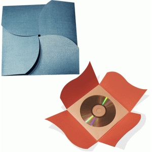 cd or card wrap curved