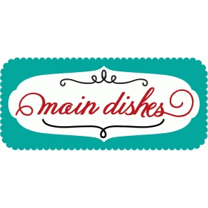 main dishes cook book word art
