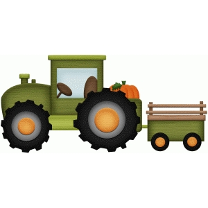 tractor farm fall print and cut