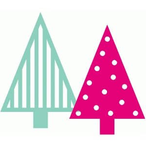 stripe and dot xmas treets