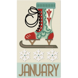 january calendar graphica quilt panel
