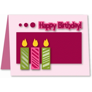 a2 candle birthday card