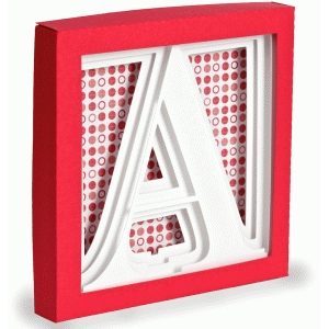 letter a - 3d alphabet shadow box