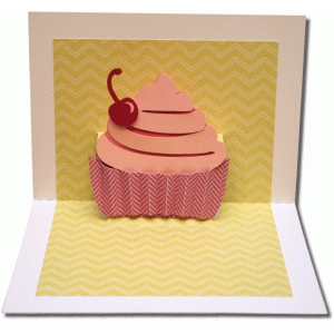 a7 pop up cupcake card