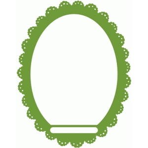 lacy oval frame with opening