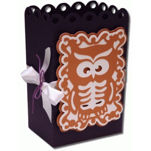 3d skeleton owl favor bag