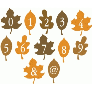 fall leaf alphabet - numbers & punctuation
