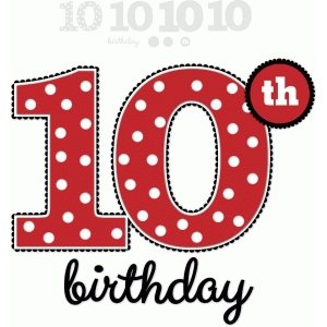 10th birthday - nested