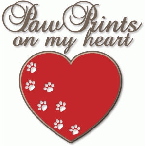 nested paw prints on my heart