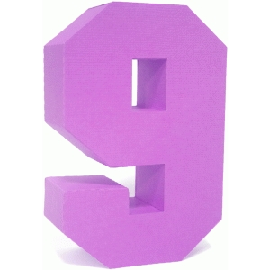 3d square number block 9