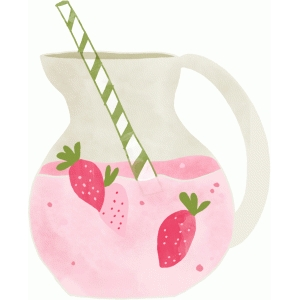 strawberry pitcher