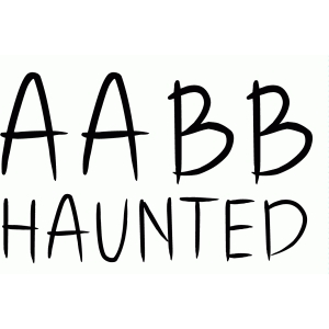 haunted font