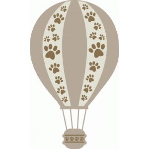 dog paw hot air balloon