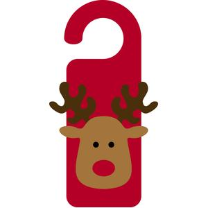 christmas door hanger reindeer