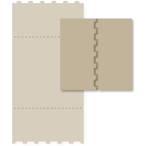 square puzzle card base