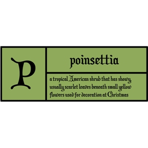 p is for poinsettia pc