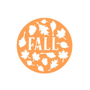 fall circle label