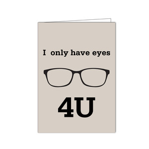 I only have eyes folded card