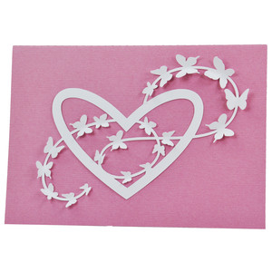 butterfly flourished heart card