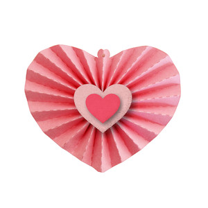 3d hanging accordian pleated heart
