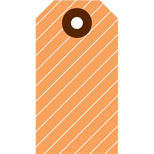 striped tag