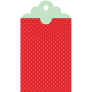 gift tag with sleeve