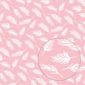 pink evergreen branches pattern