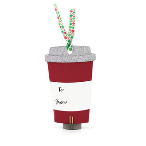 christmas tag coffee