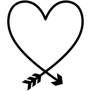 baby t-shirt heart arrow