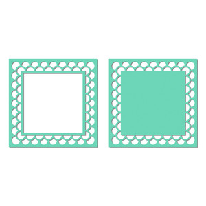decorative border square frame