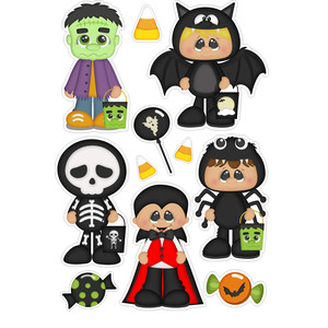trick or treat boy stickers