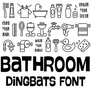 bathroom dingbats